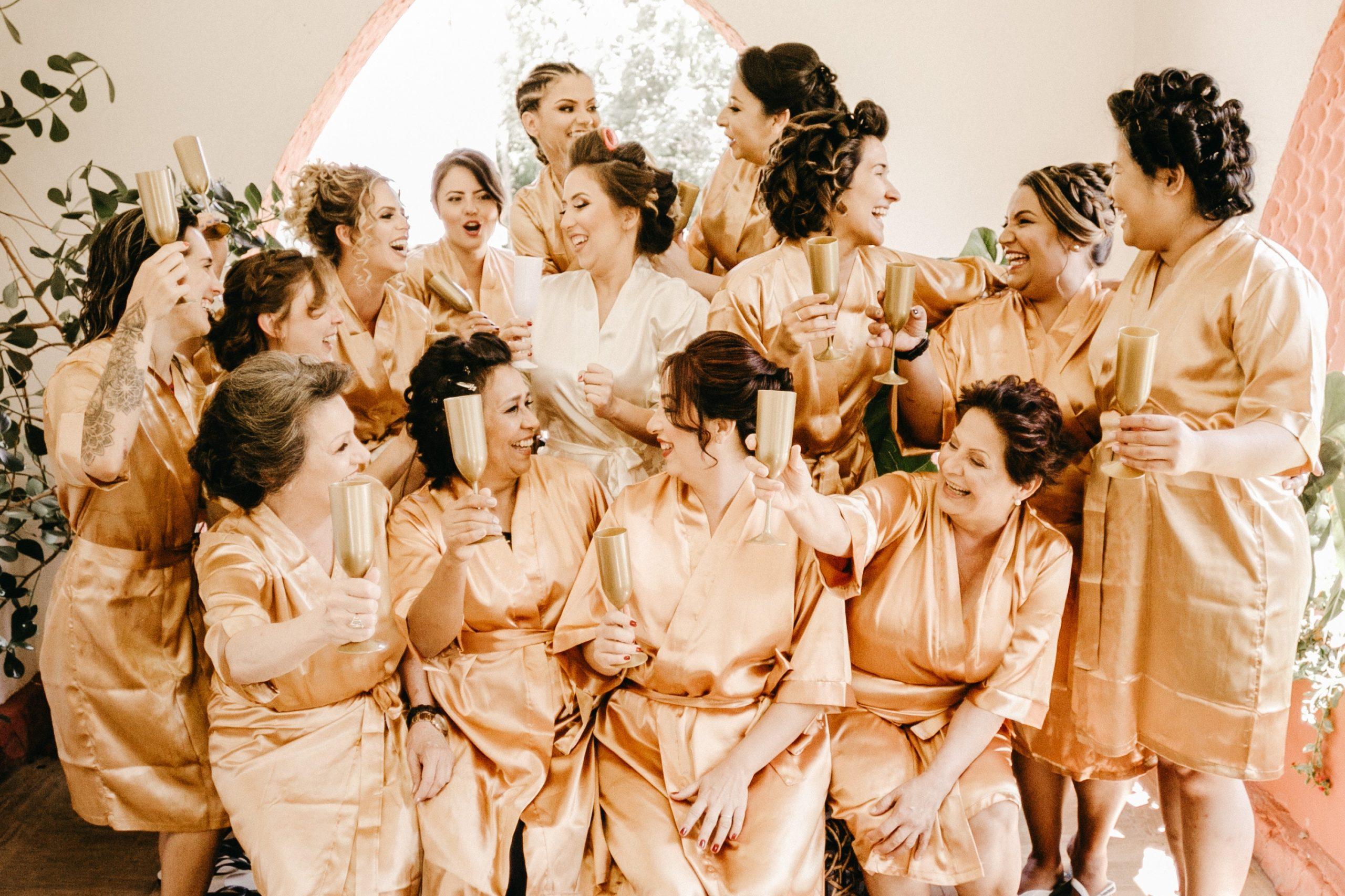 Photo of Wedding Bride Bridesmaids Makeup Hairstyle Nails Lashes Spray Tan Wax Barber